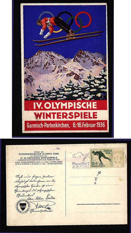 - Sport & Games, Olympic games 1936 Garmisch,