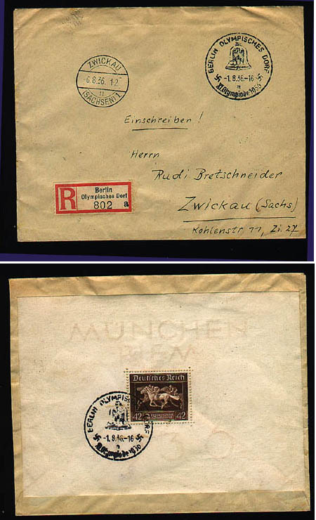 - Sport & Games, Olympic games Berlin 1936, Special Postmarks
