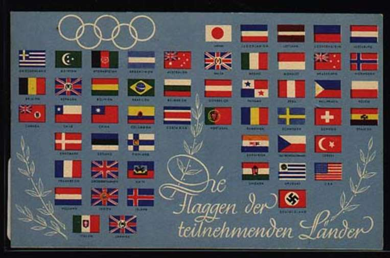 - Sport & Games, Olympic games Berlin 1936, Advertising Postcards