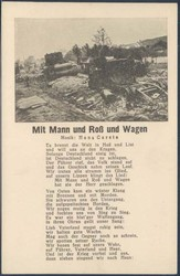 484010: Military, Soldier Song Cards, German Cards