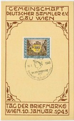 Postal History, Stamp Day, Germany - 1945