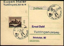 214010: Postal History, Stamp Day, Germany - 1945