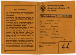 662840: Third Reich Propaganda, Documents, ID Cards and Membership Books