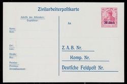 365: Deutsche Besetzung I. WK Etappengebiet West - Ganzsachen