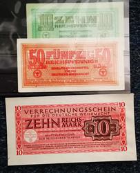 110.80.70.10: Banknoten - Deutschland - Wehrmacht und Besatzungsausgaben II. WK - Behelfszahlungsmittel für die Wehrmacht