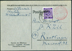 1303030: American Zone Provisional Issues - Postal stationery