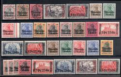 155: Deutsche Auslandspost Marokko - Sammlungen