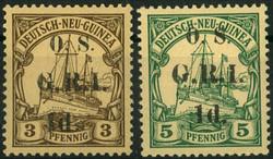 170: Deutsche Kolonien Neuguinea Britische Besetzung - Dienstmarken