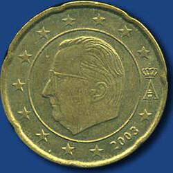 40.40.130.20: Europa - Belgien - Euro Münzen - Umlaufmünzen