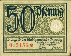 110.80.130: Banknoten - Deutschland - Danzig
