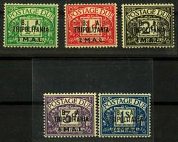 3600: Italienisch Tripolitanien Britische Militär Post - Portomarken