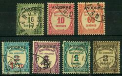 1670: Andorra Französische Post - Portomarken