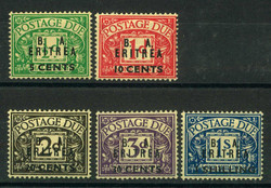 3565: Italenisch Eritrea Britische Militärpost - Portomarken