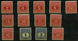 1920: Bosnien und Herzegowina (Österr.) - Portomarken