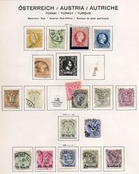 4785: Österreich Post in der Levante - Sammlungen