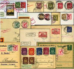 7690: Sammlungen und Posten Zeppelin und Luftpost - Briefe Posten