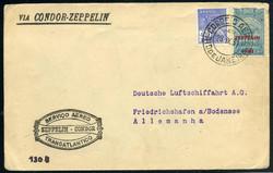 982526: Zeppelin, Zeppelinpost LZ 127, Südamerikafahrten 1932