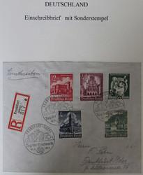 214010: Postgeschichte, Tag der Briefmarke, Deutschland bis 1945