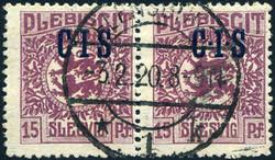 330: Deutsche Abstimmgeb. Schleswig - Dienstmarken