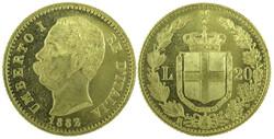 40.200.370.20: Europe - Italy - Kingdom - Humbert I, 1878-1900