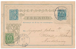 3345020: Iceland Aurar Issue - Postal stationery