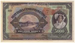110.500: Banknotes - Czechoslovakia