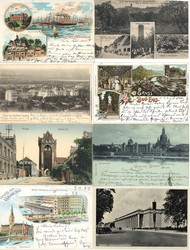 7900: Sammlungen und Posten Ansichtskarten Deutschland - Postkarten