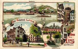 105460: Deutschland West, Plz Gebiet W-54, 546 Linz a. Rhein