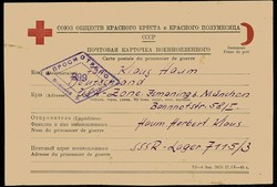 6355500: Kriegsgefangenen Post