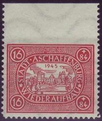 750: Deutsche Lokalausgabe Aschaffenburg - Bogenränder / Ecken