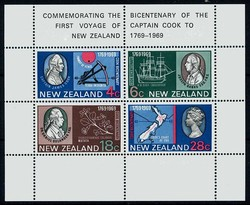 4565: New Zealand - Souvenir / miniature sheetlets