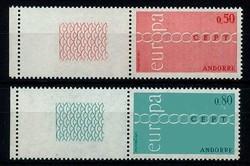 1670: Andorra Französische Post - Bogenränder / Ecken