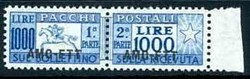 6285: Trieste Zone A - Parcel stamps