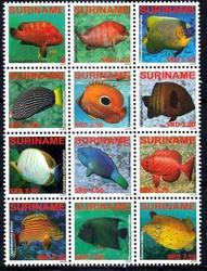 6130: Surinam - Se-tenant prints