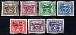 5400: Ruanda Urundi - Portomarken