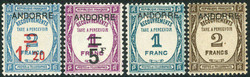 1670: Andorra French Post - Postage due stamps