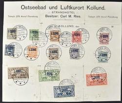 330: Deutsche Abstimmgeb. Schleswig - Briefe Posten