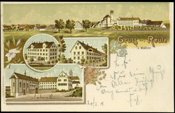 107980: Germany West, Zip Code W-79, 798 Ravensburg - Picture postcards