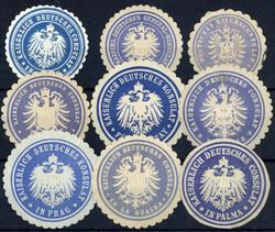 7960: Sammlungen und Posten Vignetten und Siegelmarken - Sammlungen