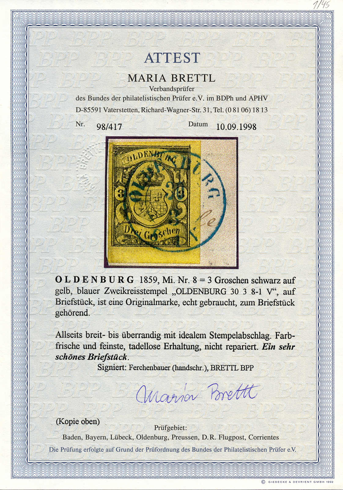 Lot 10014 - germany and colonies Old German States Oldenburg -  Classicphil GmbH Auction #1