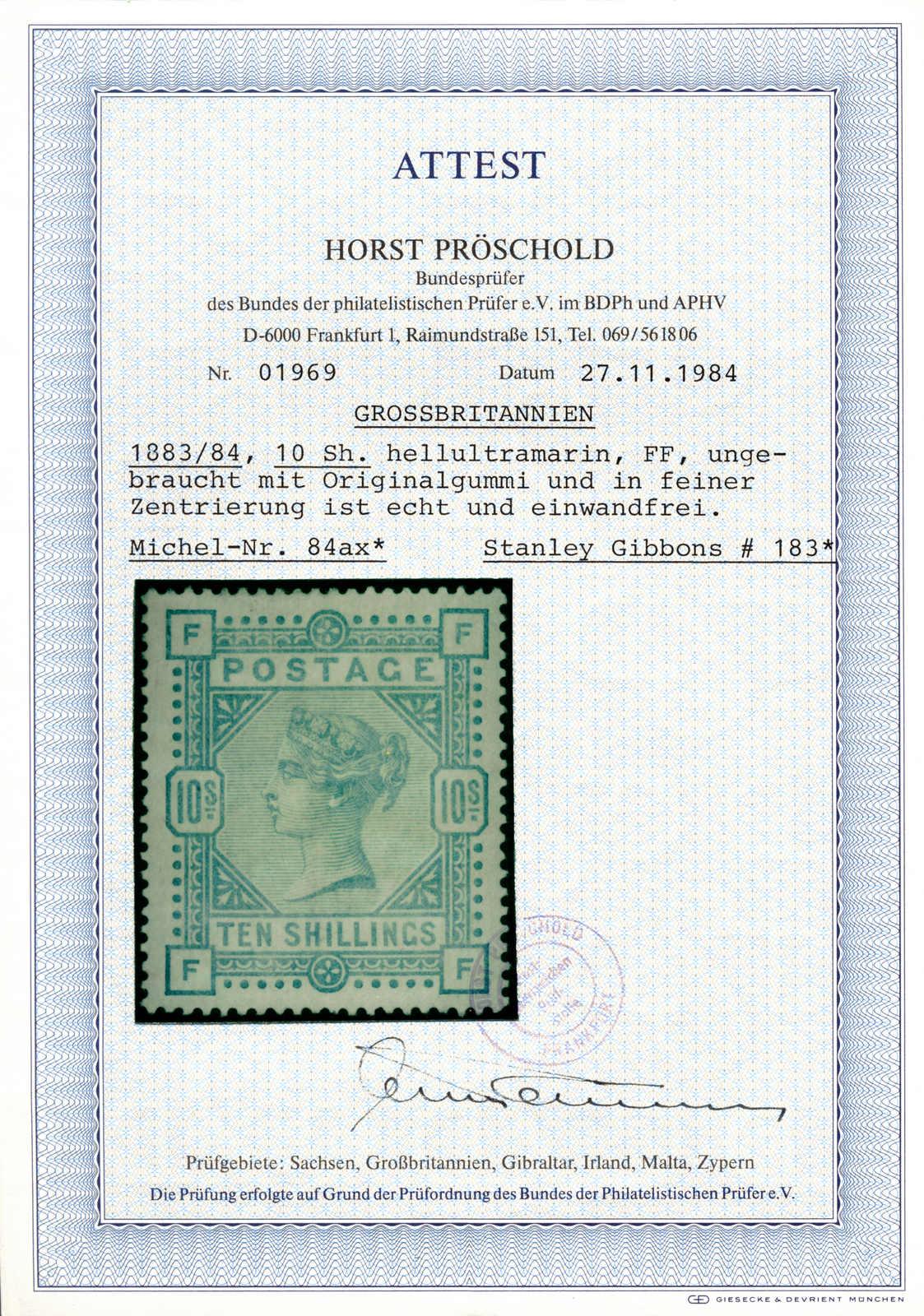 Lot 30203 - europa grossbritannien -  classicphil GmbH 6'th classicphil Auction - Day 2