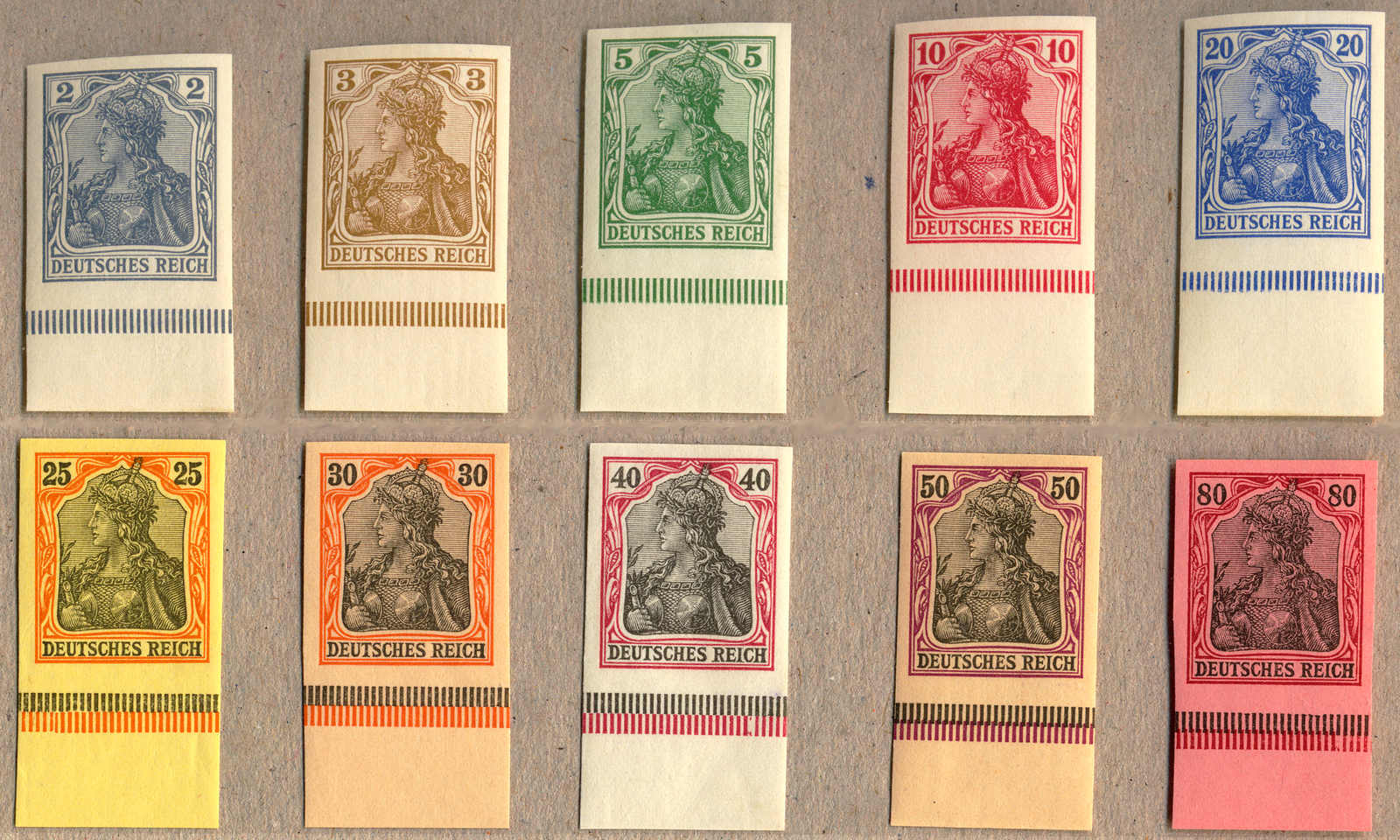 Lot 10025 - germany German Empire, Germania w.o. watermark -  classicphil GmbH 3 rd classicphil Auction - VIENNA- AUSTRIA