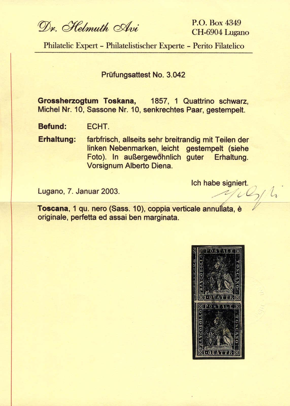Lot 10081 - europe tuscany -  classicphil GmbH 3 rd classicphil Auction - VIENNA- AUSTRIA