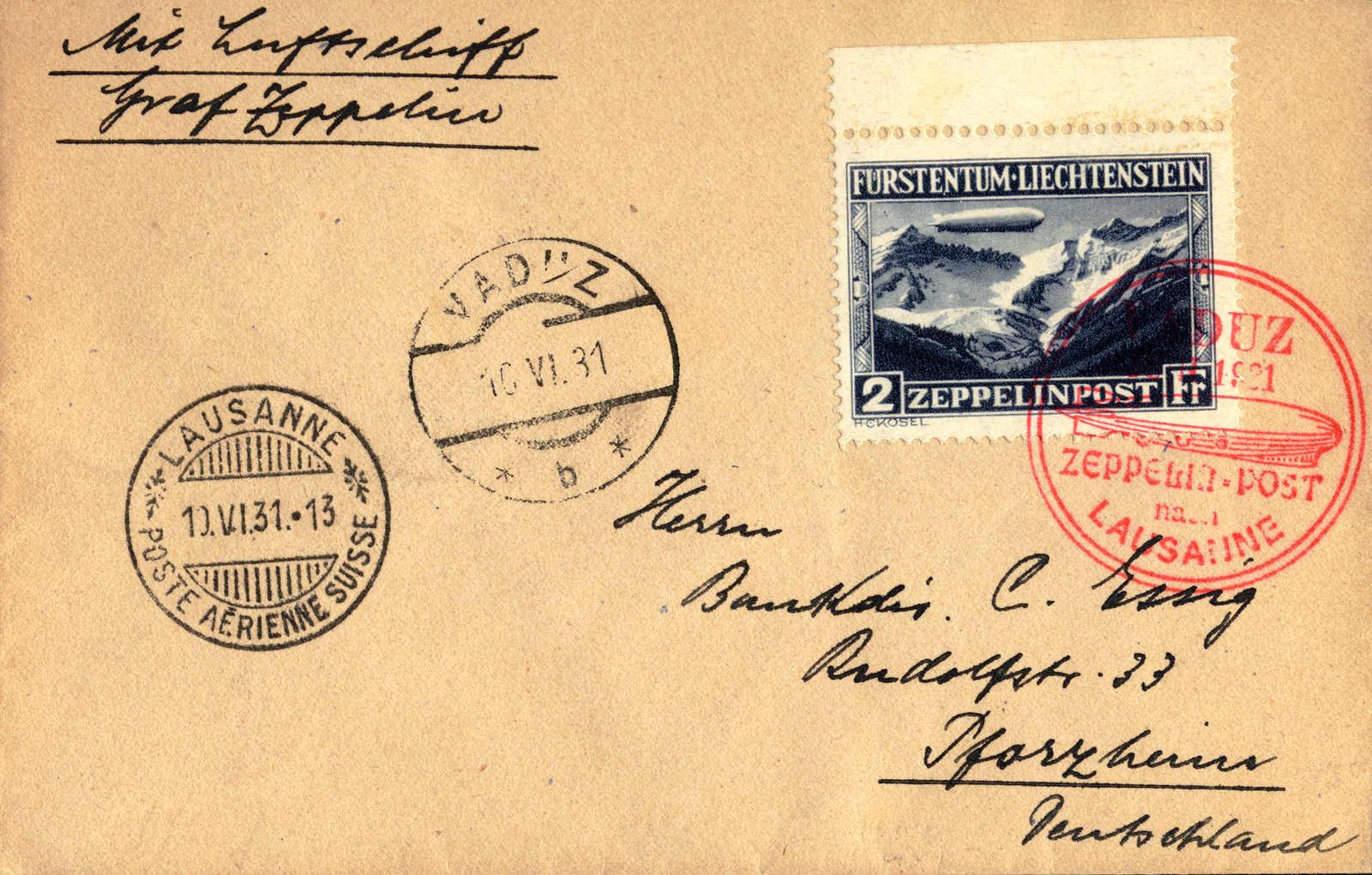 Lot 10107 - europe Liechtenstein -  classicphil GmbH 3 rd classicphil Auction - VIENNA- AUSTRIA