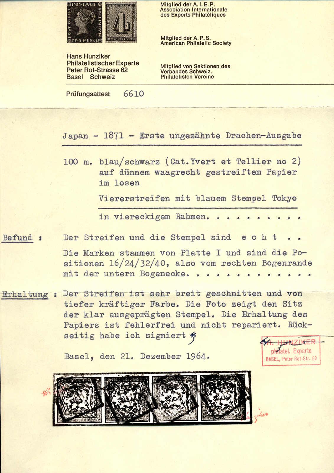 Lot 20267 - Japan Japan -  classicphil GmbH 3 rd classicphil Auction - VIENNA- AUSTRIA