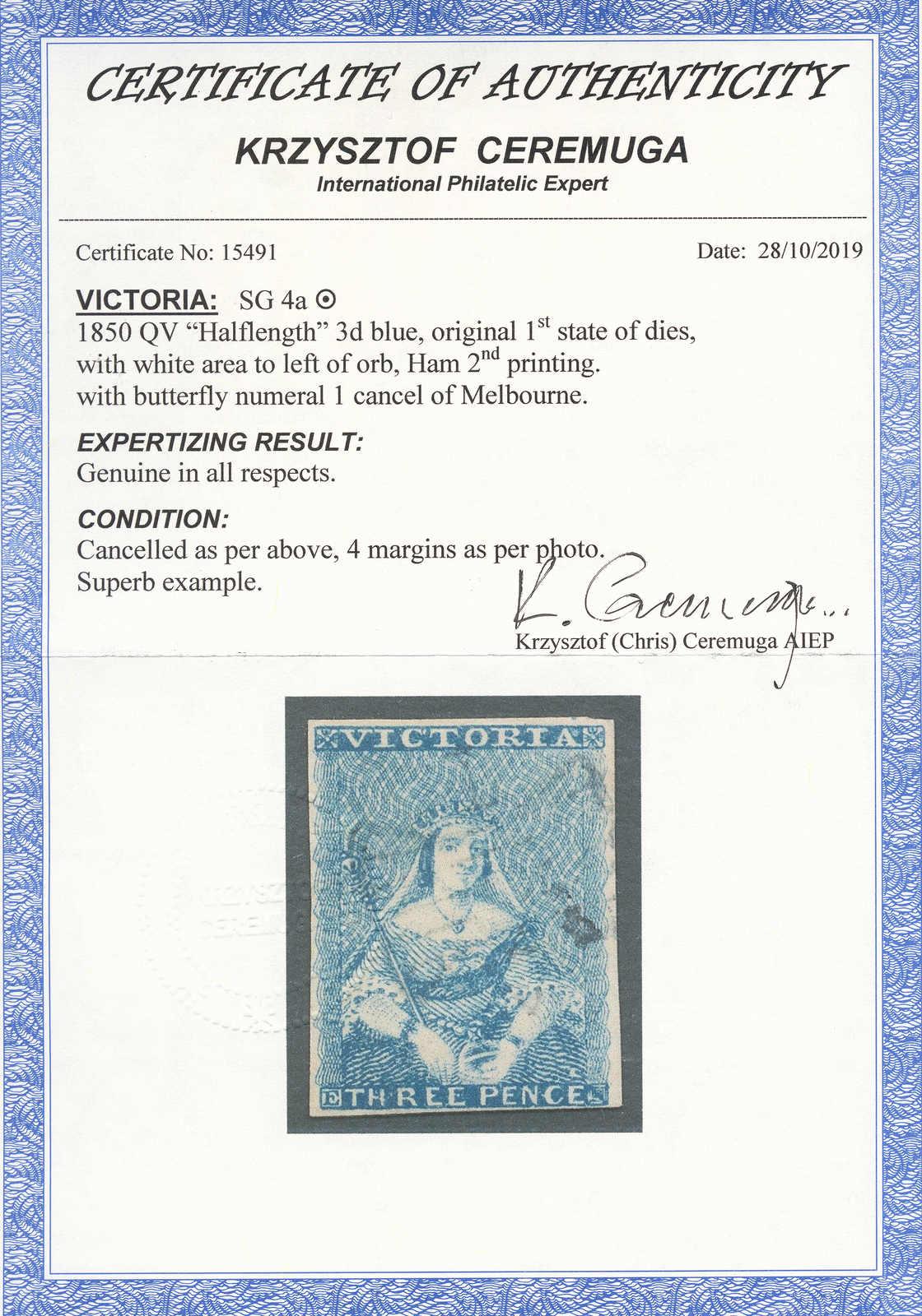 Lot 10124 - andere gebiete victoria -  classicphil GmbH 6'th classicphil Auction - Day 1