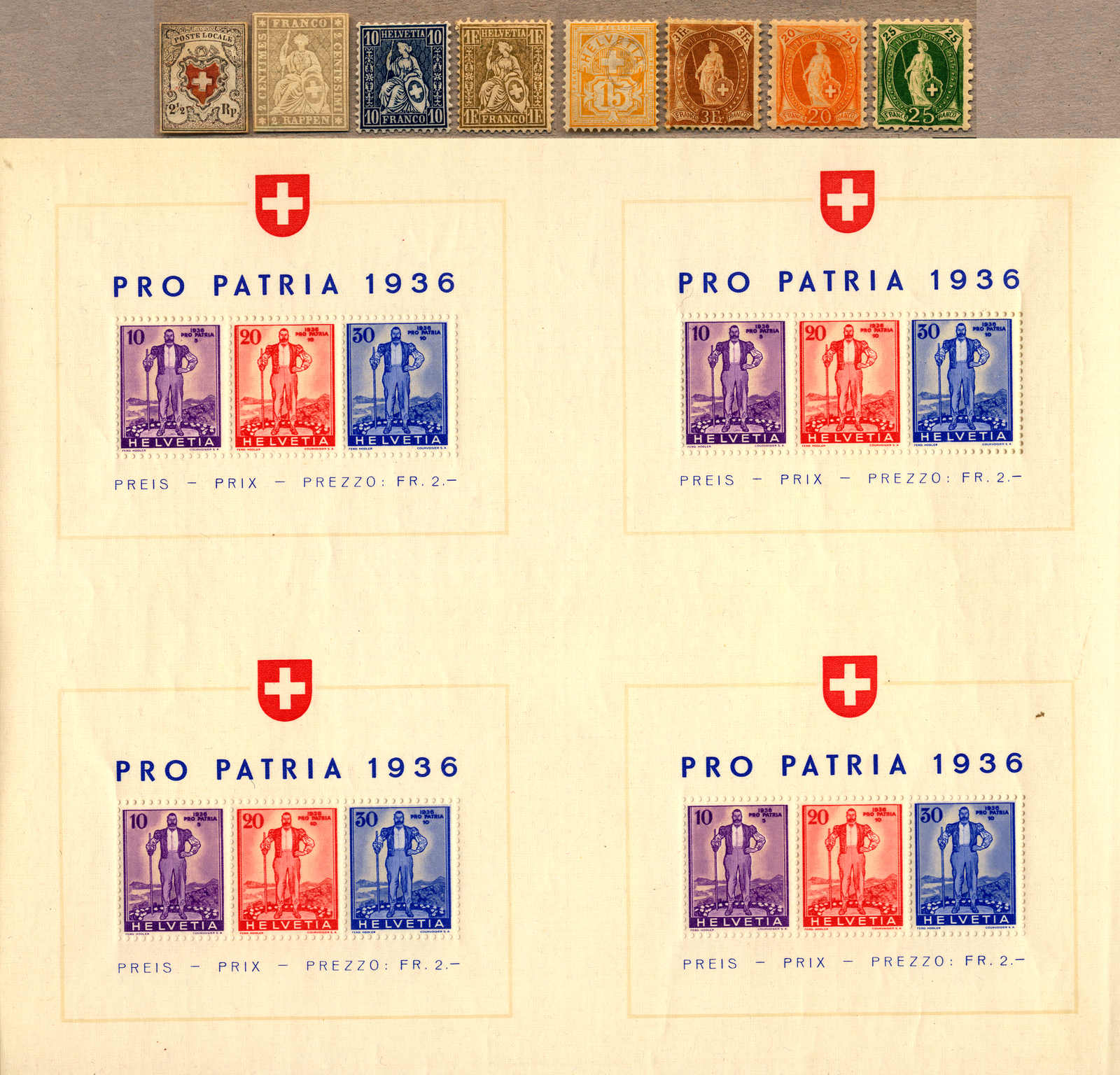 Lot 10240 - Switzerland Switzerland -  classicphil GmbH 3 rd classicphil Auction - VIENNA- AUSTRIA