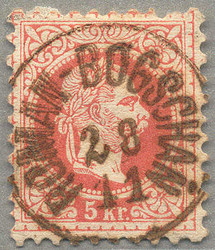 4745080: Austria 1867 Issue used in Hungary