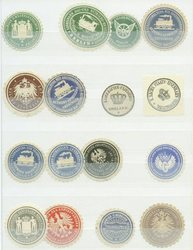7960: Lots and Collections Vignettes and letter seals