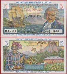 110.560.255: Banknoten - Amerika - St. Pierre & Miquelon